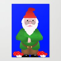 gnome Canvas Prints featuring Gnome by lescapricesdefilles
