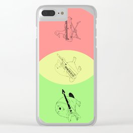 Keytar Platypus Venn Diagram - GYR Clear iPhone Case
