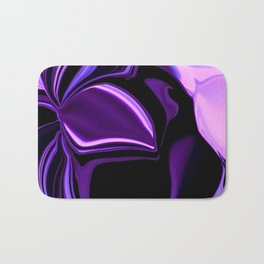 purple tropical flower abstract digital painting Bath Mat