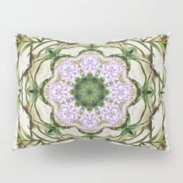 Orchids And Stone Wall Kaleidoscope 1764 Pillow Sham