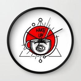 WAKE UP! Wall Clock