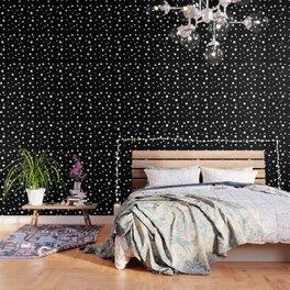 Black and White Polka Dots Wallpaper