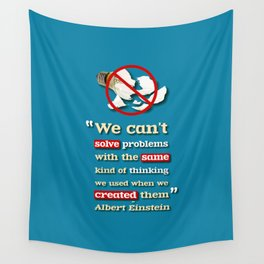 Einstein on Problem Solving Wall Tapestry