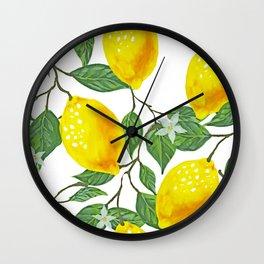 Lime, Lemon or a Twist Wall Clock