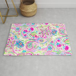 Paisley Watercolor Brights Rug