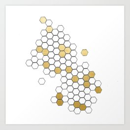 Honey Comb Art Print