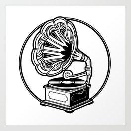 Old Record Machine Art Print