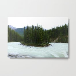 Sunwapta Falls - Jasper National Park Metal Print