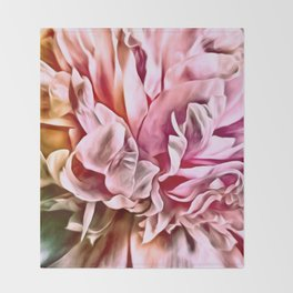 Painted Peony Warm Throw Blanket