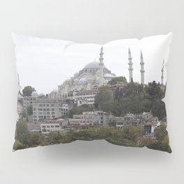 Istanbul Mosque Turkey Sultanahmet Trees Houses Cities Building Pillow Sham