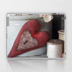 Vintage Heart Vignette Laptop & iPad Skin
