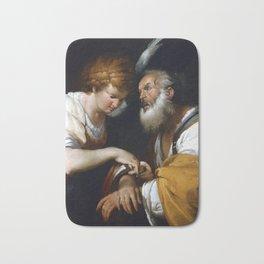 Bernardo Strozzi The Release of Saint Peter Bath Mat