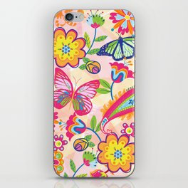 Butterflies and Fowers iPhone Skin