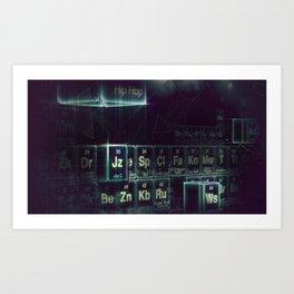 Jay-Z Periodic Table part 2 Art Print