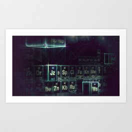 Jay-Z Periodic Table part 2 Art Print