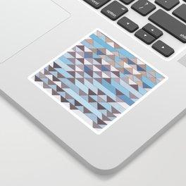 Triangle Pattern No.6 Crisp Blue Sticker