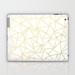 Ab Outline White Gold Laptop & iPad Skin