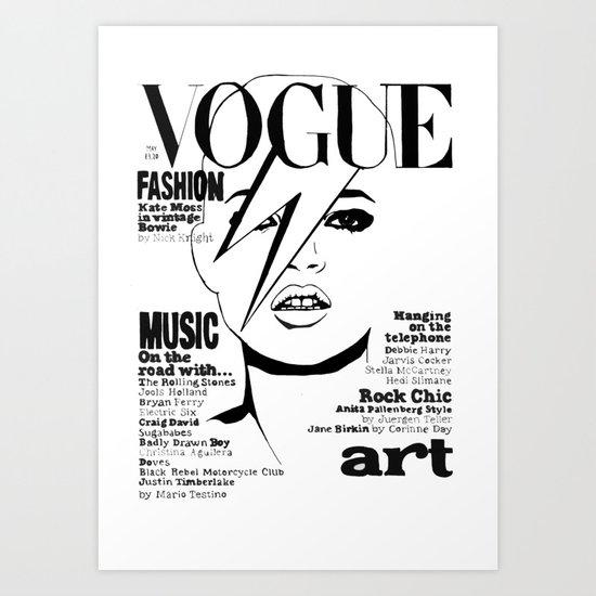 Kate Moss / David Bowie Art Print