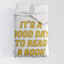 It's a Good Day to Read a Book yellow Comforters