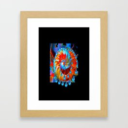 Fantasy  Design Incrustation  Jewels in Aqua-Black -Blue   Framed Art Print