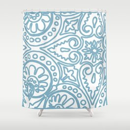 Dulce Wedgwood Blue Shower Curtain