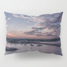 Sunset over Rockport Harbor Pillow Sham