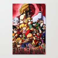earthbound Canvas Prints featuring EarthBound - Super NES Love by DA Productions
