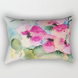 watercolor bouquet Rectangular Pillow