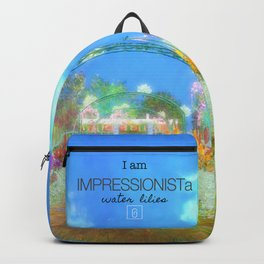 IMPRESSIONISTa Water Lilies Backpack