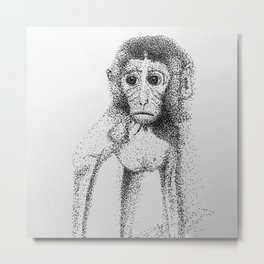 Dotted Monkey Metal Print