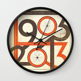100 Years of The Tour de France Wall Clock