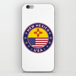 New Mexico, USA States, New Mexico t-shirt, New Mexico sticker, circle iPhone Skin