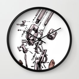 Exploded Gun Wall Clock