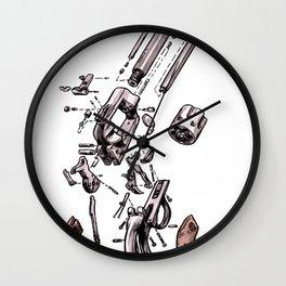 Exploded Gun Wall Clock