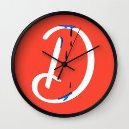 Dripping letter D Wall Clock