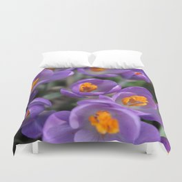 Bunch of Crocus Duvet Cover
