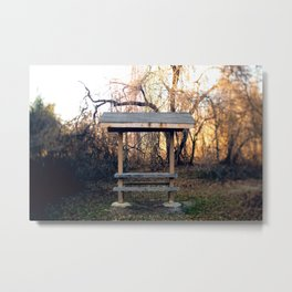 Covered Table in Brick, NJ Metal Print
