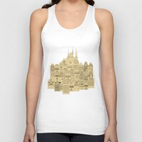 medieval Tank Tops featuring medieval houses  by Elena Trupak