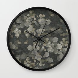 """""""Nacre pearls on silver river"""" Wall Clock"""