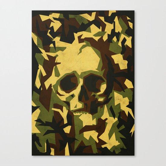Camouflage skull Canvas Print