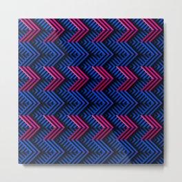 Neon op art striped arrows forward Metal Print