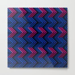 Neon op art striped arrows forward Metal Print