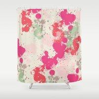 splatter Shower Curtains featuring Splatter by C Designz