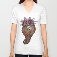 bread V-neck T-shirts featuring Bread Spectre by Will Baten