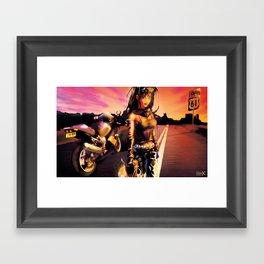 Desert Haze Framed Art Print