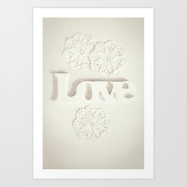 Love & Doilies Art Print