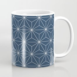 Geometric Stars pattern blue Coffee Mug