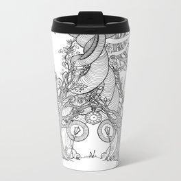 TIME STANDS STILL (travel mugs, blankets, tapestries) Metal Travel Mug