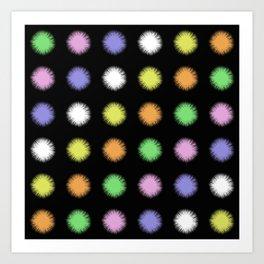Rainbow Fuzz Art Print