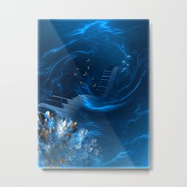 Blue coral melody  Metal Print